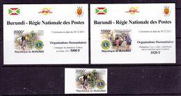 BURUNDI Lot 2 Blocs Et 1 Timbre Organisation Humanitaire LIONS INTERNATIONAL Neuf - Burundi