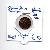 DUITSLAND GERMAN STATES PRUISEN PFENNIG 1867B WILHELM I - Sin Clasificación