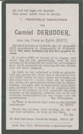 BP Derudder Camiel (Uitkerke 1891 - Ramskapelle 1914) Gesneuvelde Soldaat - Colecciones