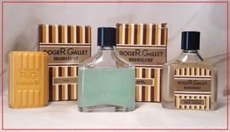 ROGER & GALLET : Monsieur. Eau De Toilette 15 Ml. Baume Après Rasage 15 Ml. & Savon. Version 1970. - Modern Miniaturen (vanaf 1961)
