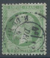 Lot N°55964  N°20, Oblit Cachet à Date De PARIS (R. Du Helder), Correspondant à L'étoile 22, Ind 18 - 1862 Napoléon III