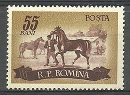 Romania 1955 Mi 1554 MNH ( LZE4 RMN1554 ) - Horses