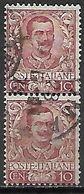 ITALIE.    .1901  .  .Y&T N° 67 Oblitérés .  En Paire - Usati