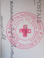 Cachet Militaire BOMMES Par SAUTERNE (Gironde) HÔPITAL AUXILIAIRE N° 301 Société De Secours Aux Blessés MILITAIRES - France