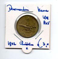 DENEMARKEN KRONA 1942 CHRISTIAN X - Denmark