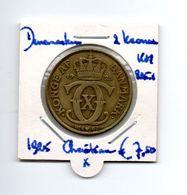 DENEMARKEN 2 KRONER 1925 CHRISTIAN X - Denmark