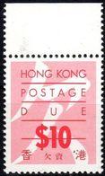 1987 Hong Kong, Segnatasse 10 Dollari, Nuovo (**) - Hong Kong (...-1997)