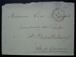 Agen 1914 Cachet Du 18e D'Artillerie Sur Lettre Pour Saint Barthélémy (Lot Et Garonne) - Postmark Collection (Covers)