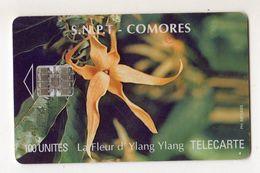 COMORES REF TELECARTE  S.N.P.T MV CARDS COM-11 YLANG YLANG FLEUR 100 U - Comore