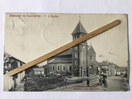 LACUISINE SOUVENIR L'ÉGLISE 1909,Panorama,animée - Florenville