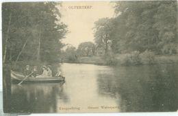 Olterterp 1910; Knuppelbrug, Groote Waterpartij - Gelopen. (Weduwe W. Numan) - Netherlands