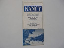 VIEUX PAPIERS - DEPLIANT TOURISTIQUE : NANCY - Tourism Brochures