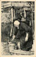 Typical Dress, Taking Water, Bridges, Real Photo - Giethoorn