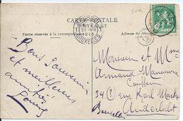 Zichtkaart Yvoir Met OCB 110 - Afstempeling ANHEE - COBA 8 - 1912 Pellens