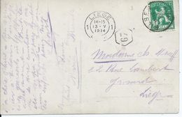Fantasiekaart  Met OCB 110 - Afstempeling BILSEN - COBA 4 - 1912 Pellens
