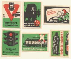 Germany DDR , 6 Old Matchbox Labels - Scatole Di Fiammiferi - Etichette
