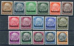 LOTHRINGEN 1940 Overprint On Hindenburg Definitives LHM / *.  Michel 1-16 - Occupation 1938-45