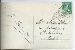 Fantasiekaart  Met OCB 110 - Afstempeling CALMPTHOUT - COBA 8 - 1912 Pellens