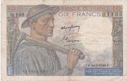 Billet De 10 Francs MINEUR - 10.3.1949 - Q.168 - 1871-1952 Anciens Francs Circulés Au XXème