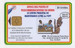 BENIN Ref MV Cards BEN-27 30U CPM Date 1997 - Bénin