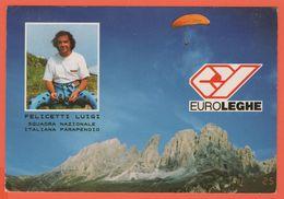 Cartoline - Tematica - Paracadutismo - 1990 - Serie Castelli, 600 Castello Scaligero-Sirmione - Felicetti Luigi - Squadr - Paracaidismo
