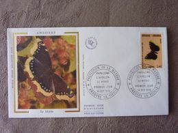 1976  ANDORRE ANDORRA  PAPILLON BUTTERFLY  LE MORIO  FDC - Papillons
