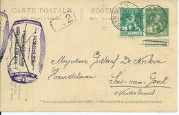 5c-postkaart  Met OCB 110 - Afstempeling SYNGHEM- COBA 8 - 1912 Pellens