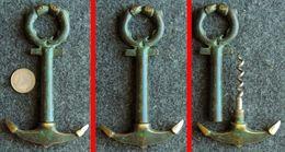 Tire-bouchon ANCRE De MARINE En Bronze Patiné Décoré De 2 Poissons - Bottle Openers