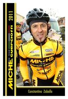CARTE CYCLISM CONSTANTINO ZABALLA TEAM MICHE - GUERCIOTTI 2011 - Cycling