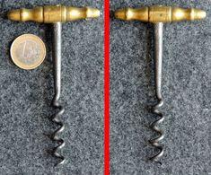 Tire-bouchon Ancien Poignée En Bronze : 2 Doigts - Bottle Openers