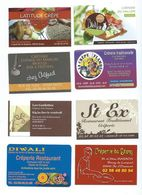 17663 -10  PETITES CARTES PUB - THEME CREPERIE - Plaques En Carton