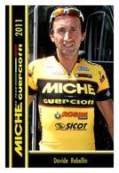 CARTE CYCLISM DAVIDE REBELLIN TEAM MICHE - GUERCIOTTI 2011 - Cyclisme
