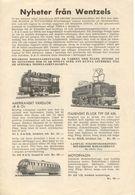 Catalogue WENTZELS 1955  Nyheter Från Wentzels   (Rivarossi) Brochure  - En Suédois - Boeken En Tijdschriften