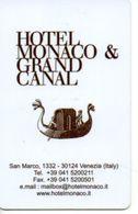ITALIA KEY HOTEL  Hotel Monaco & Grand Canal  - VENEZIA - Hotel Keycards