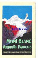 Mont Blanc Vermouth Francais Societe Vermouth Mont Blanc Marseille - Publicité