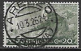 ITALIE   -  1926   .  Y&T N° 186 Oblitéré.  Saint   François D' Assise. - Usati