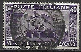 ITALIE   -  1926   .  Y&T N° 188 Oblitéré.  Saint   François D' Assise. - Usati