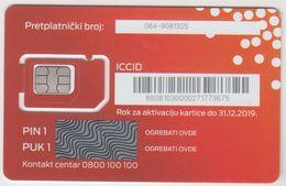 SERBIA - MTS Triple Sim PRIPEJD , GSM Card, Mint - Yougoslavie