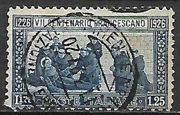 ITALIE   -  1926   .  Y&T N° 190 Oblitéré.  Saint   François D' Assise. - Usati