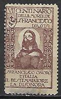 ITALIE   -  1926   .  Vignette à Identifier.  Oblitéré.  Saint   François D' Assise. - Usati