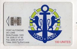 TOGO Ref MV Cards TOG-10  100 U TOGO PORT AUTONOME DE LOME - Togo