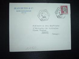 LETTRE TP M. DE DECARIS 0,25 OBL. HEXAGONALE 6-1 1965 BOVEE S/ BARBOURE MEUSE (55) JEAN HUTIN & Cie - Marcophilie (Lettres)