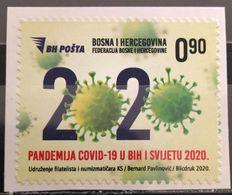 Bosnia And Hercegovina, 2020,COVID 19, Society Of Philatelists And Numismatists Of Sarajevo Canton (MNH) - Bosnia Herzegovina