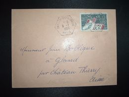 LETTRE TP PHILATEC 0,25 OBL. HEXAGONALE 8-1 1964 BRILLON-EN-BARROIS MEUSE (55) CHODORGE Pierre - Handstempel