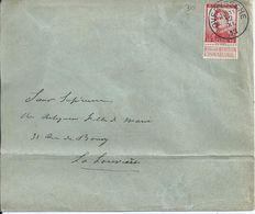 Brief Met OCB 118   - Afstempeling OVERYSSCHE - COBA 4 - 1912 Pellens
