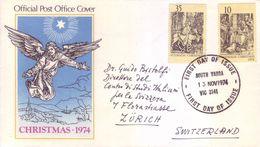 Australia 1974 - Natale, Incisioni Di A.Durer. FDC Viaggiata Per La Svizzera - 1966-79 Elizabeth II