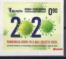 Bosnia Sarajevo - COVID -19 , Society Of Philatelists And Numismatists Of Sarajevo 2020  MNH - Bosnia Herzegovina