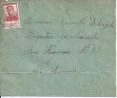 Brief Met OCB 123   - Afstempeling GRAND RENG - COBA 8 - 1912 Pellens