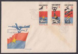 CUBA 1966. GUERRA DE VIETNAN. EDIFIL 1401/03 - FDC