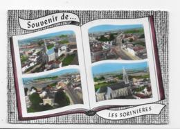 44 SOUVENIR DE  LES SORINIERES   VUE AERIENNES   BON ETAT - Francia